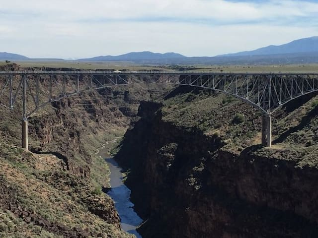Rio Grande Gorge Bridge- 15 minutes from our home.