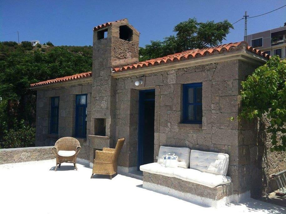 The Blue House, main terrace