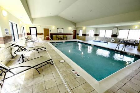 Free Breakfast. Pool & Hot Tub. Gym. Your Next Trip!