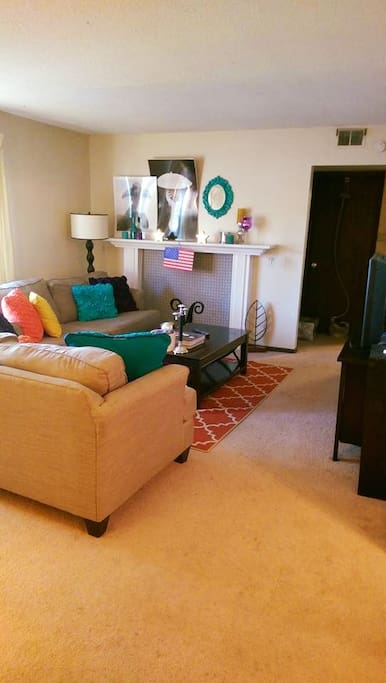 Living Room : With Faux Fire Place