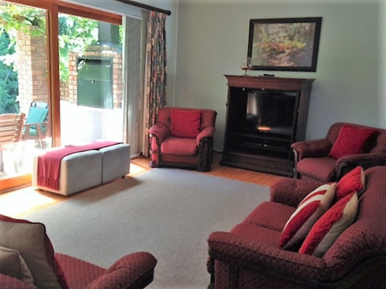 Lounge with TV and Sat TV - leading to barbecue garden area