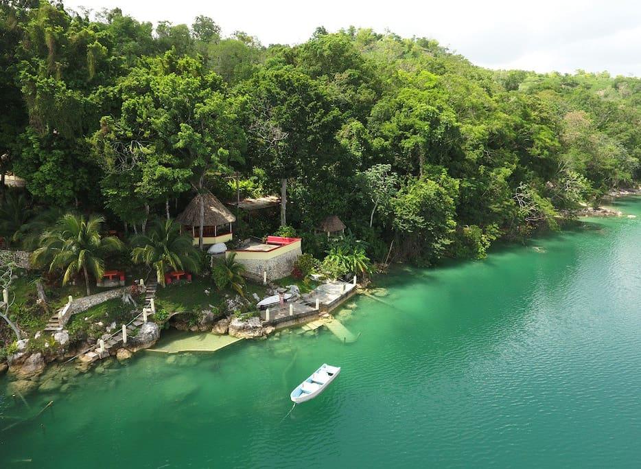 Aerial view of Gucumatz Lakeside Inn