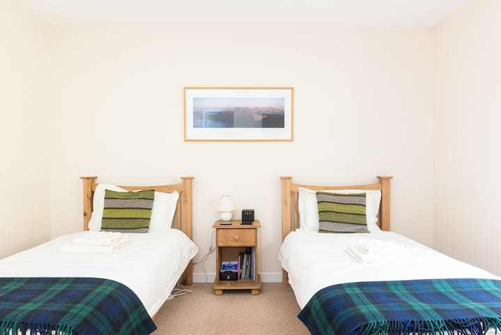 Oak Twin Room with Garden View - Invermoriston - Aamiaismajoitus