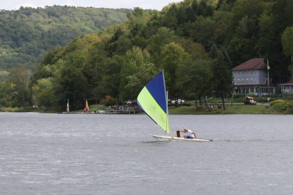 Enjoy boating on the lake during summer