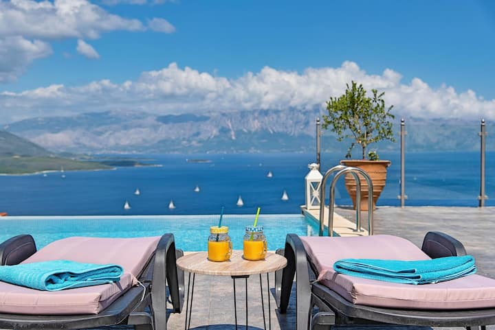 Ionian Heaven Villas- Private Infinity Pool with Breathtaking View