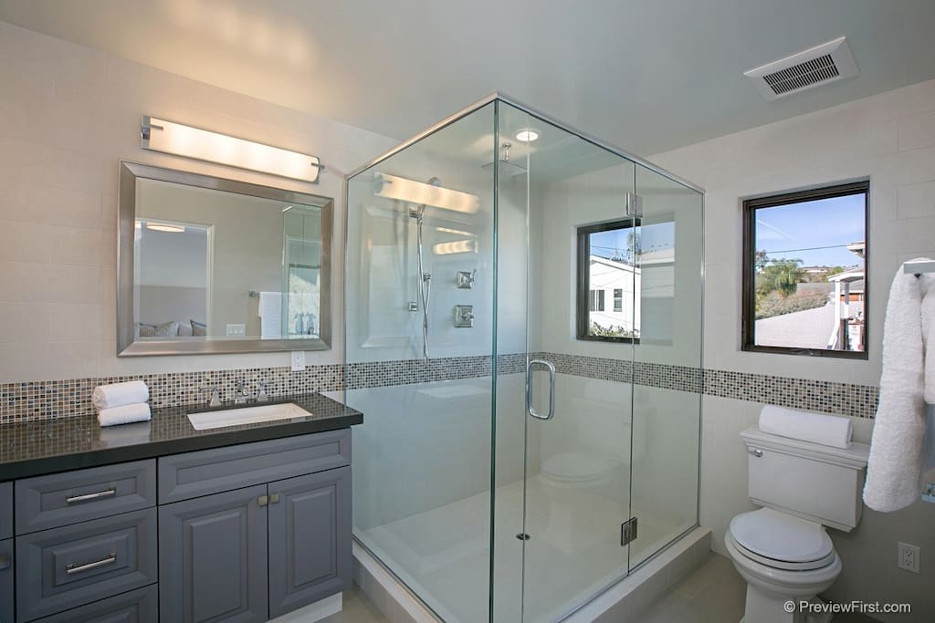 Contemporary bathroom finishes and accessories