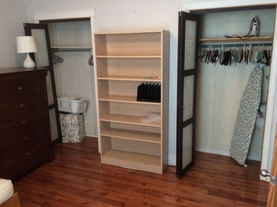 Room closets.