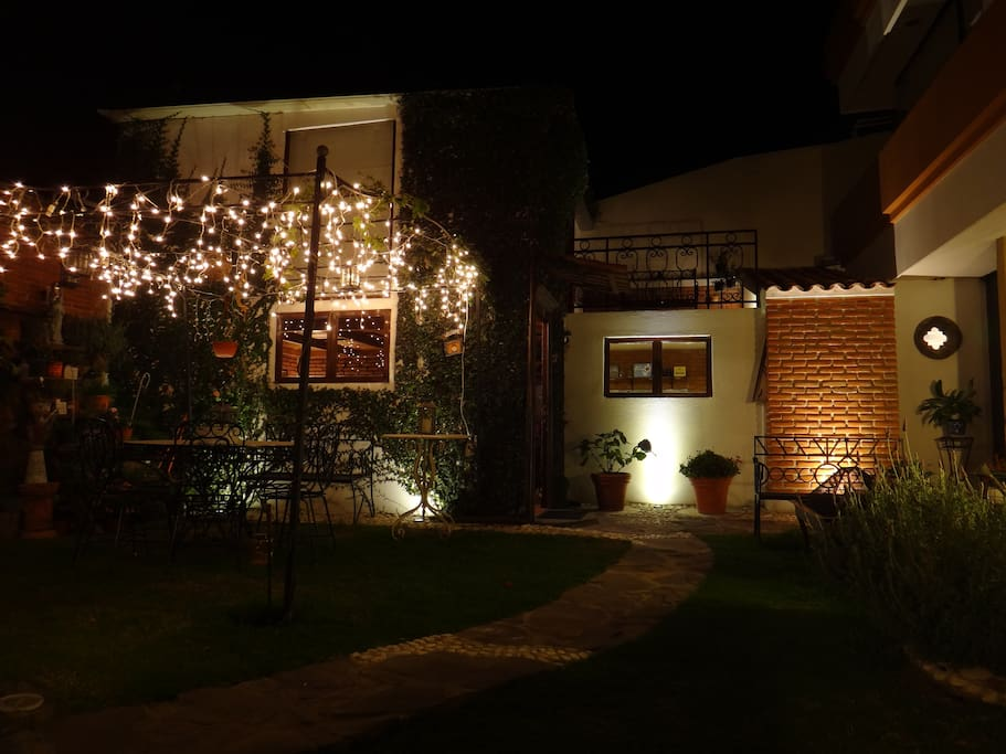 Night view of the Garden.