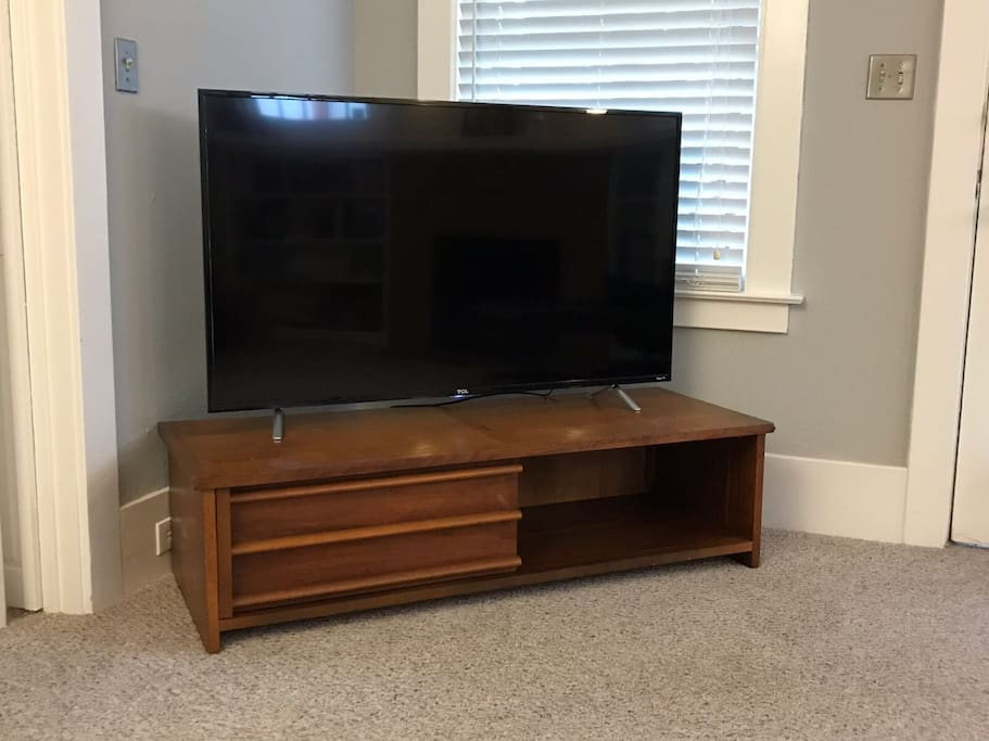 Brand new 55 inch TV in the living room with Netflix, Hulu and HBO NOW