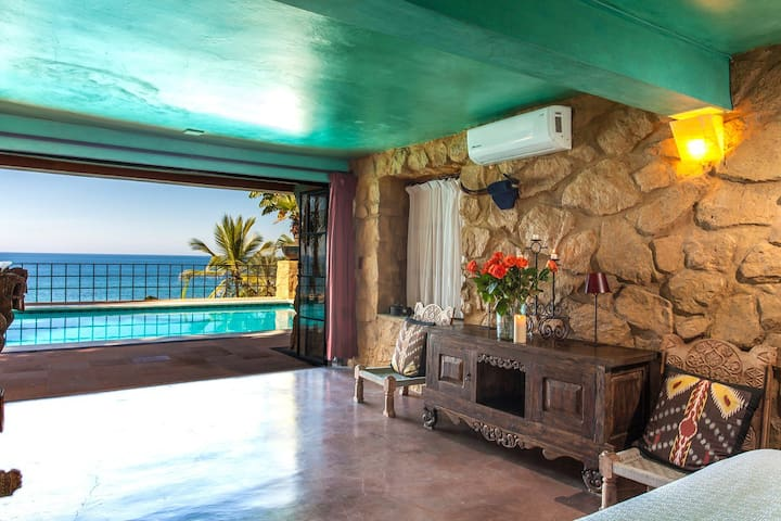 Traditional beach front house in Conchas Chinas