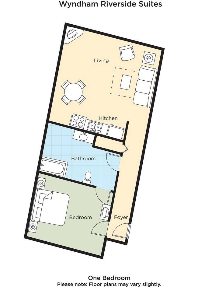 1  Bedroom Wyndham Riverside Suites/Riverwalk