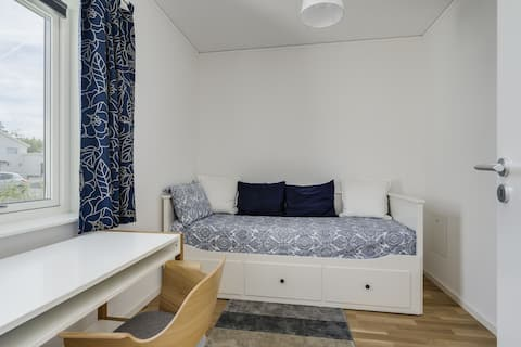 Comfortable accommodation in a fresh new house
