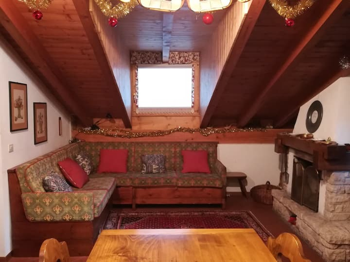 Cool wood attic apartment suitable up to 8 people