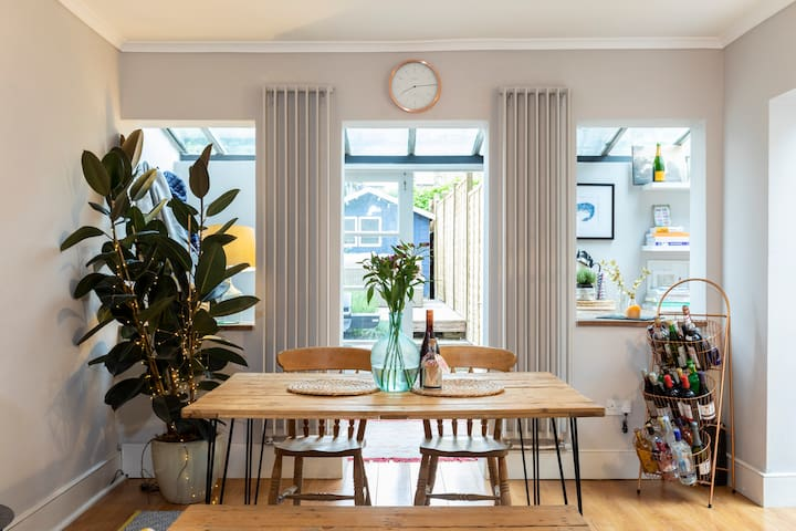 Stylish interiors and lots of natural light