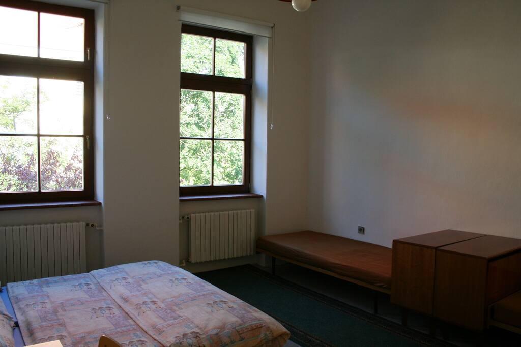 Samostatná ložnice pro 4 osoby.