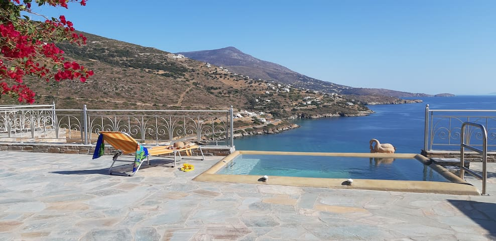 Andros Private Villa with Superb View