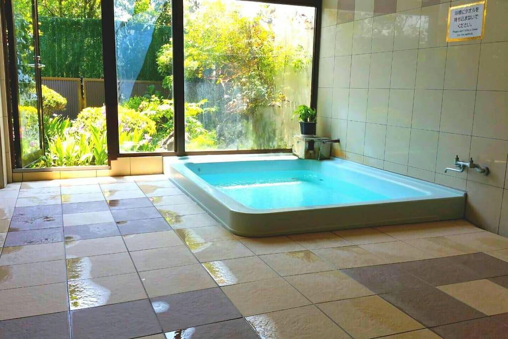 Natural hot spring.