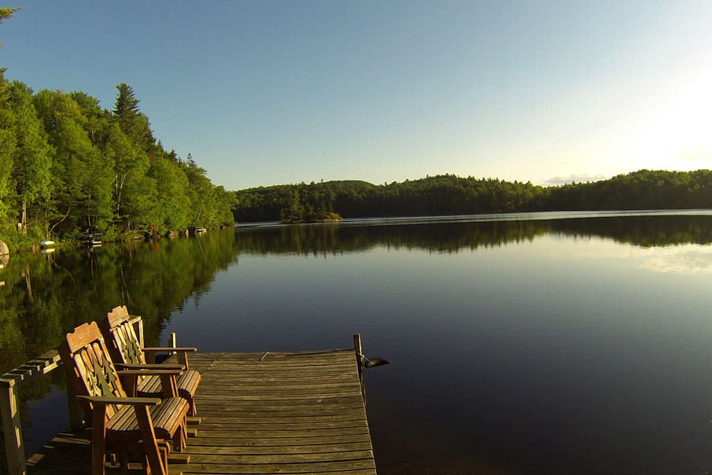 One of many places to relax and contemplate, fish, or swim during warmer season.
