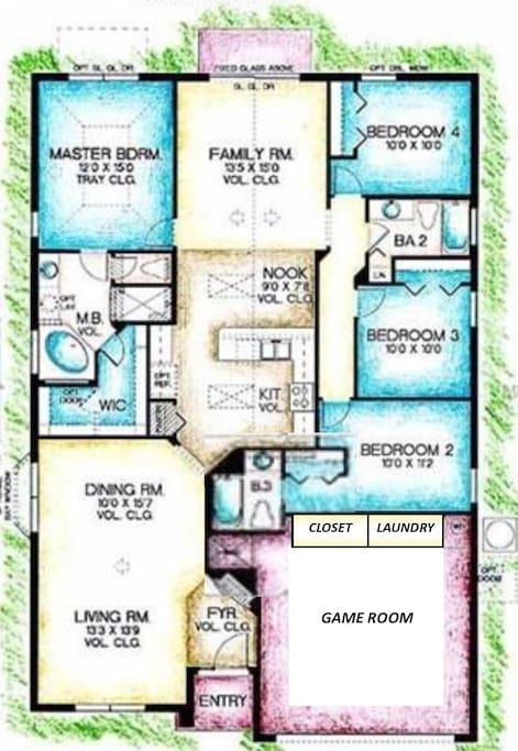 Disney Lillian House Floor Plan