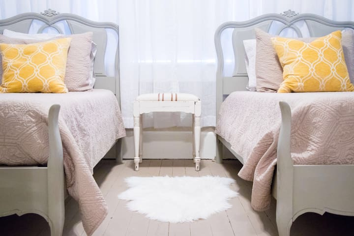 The third bedroom is great for the kids and the young at heart! This is the smallest room and has two entrances, one opens into the middle bedroom. Doors can be shut for complete privacy.  Two twin beds.