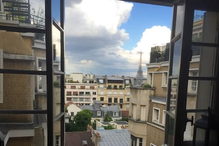 Great View on Eiffel Tower  Quiet environment 45m² - Paris