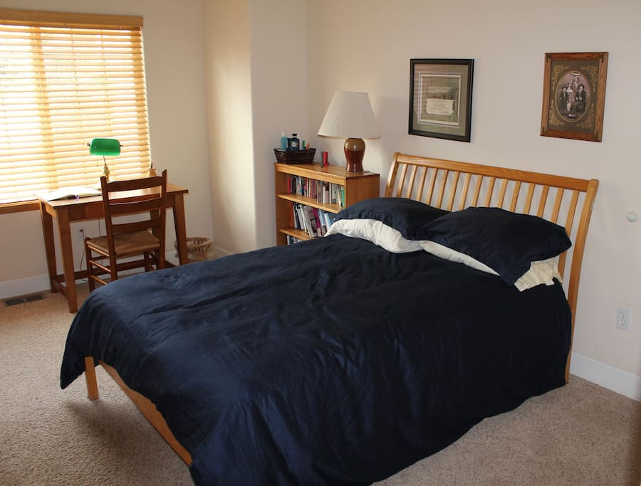 Your bed, with down comforter