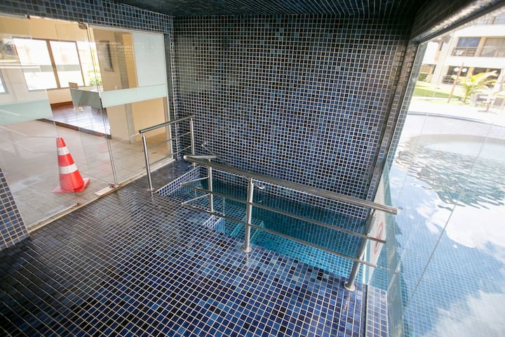 Sauna integrada as piscinas