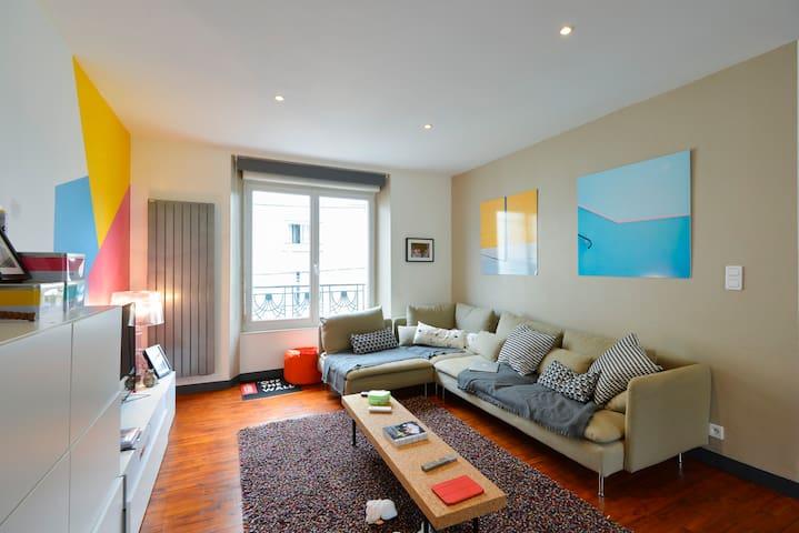Bel appartement, centre ville. Rue très calme. - Lorient - Pis