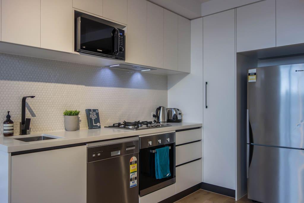 Crisp and new kitchen