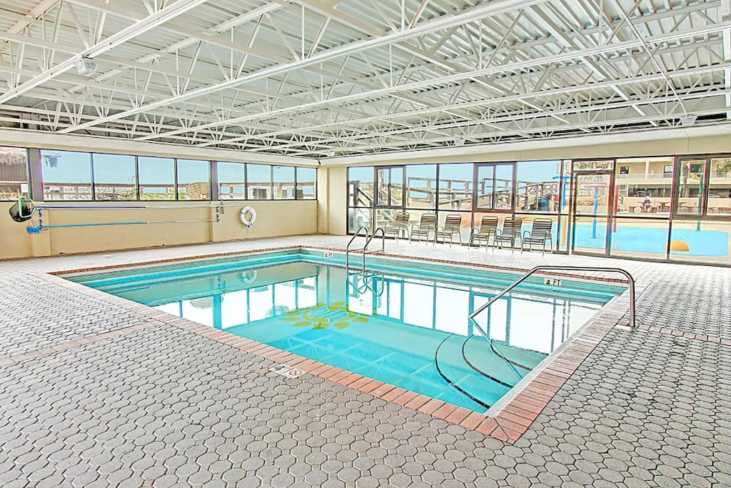 Awesome indoor Pool with Playground outside!