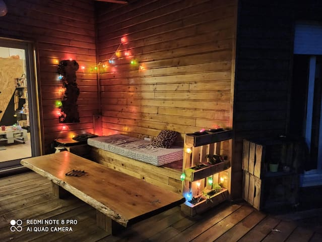 Grande maison en bois à Carcans !