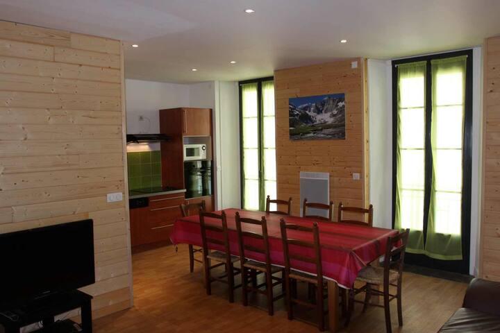 Cauterets centre, grand appartement, garage, wifi. - Cauterets - Apartment