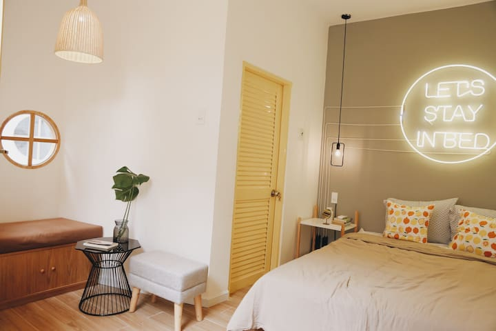 Yellow Room - TeeDee House - 1,2km to the beach