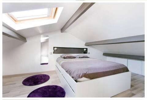 Chambre privée et sdb privée Aytré La Rochelle