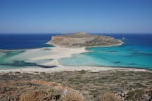 The famous beach of Balos, 46.8km from the villa