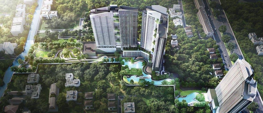 绿洲Ideo O2城市森林轻氧网红泳池公寓bitech Bangkok mall Berkeley