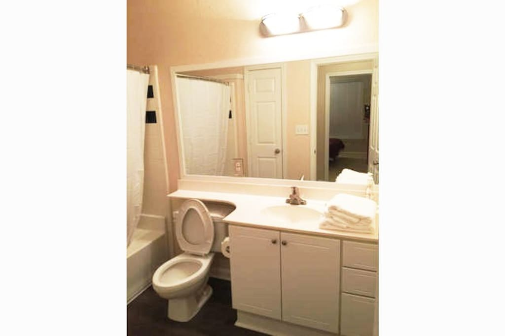 Your private and all enclosed bathroom