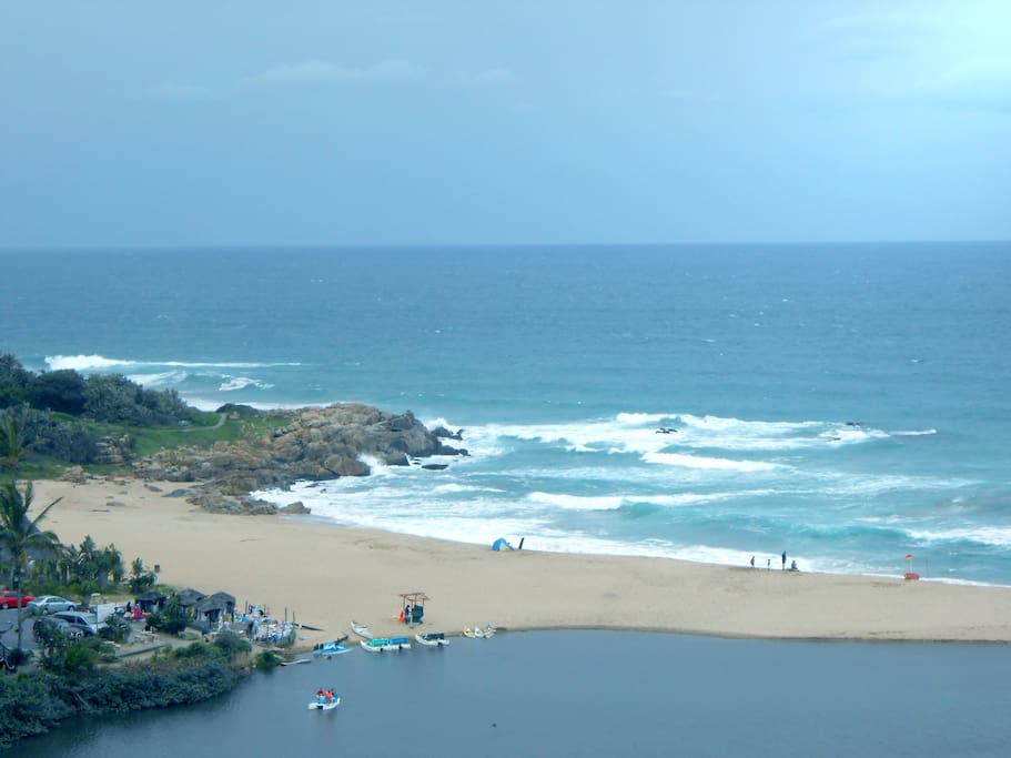 Lagoon and beach view.