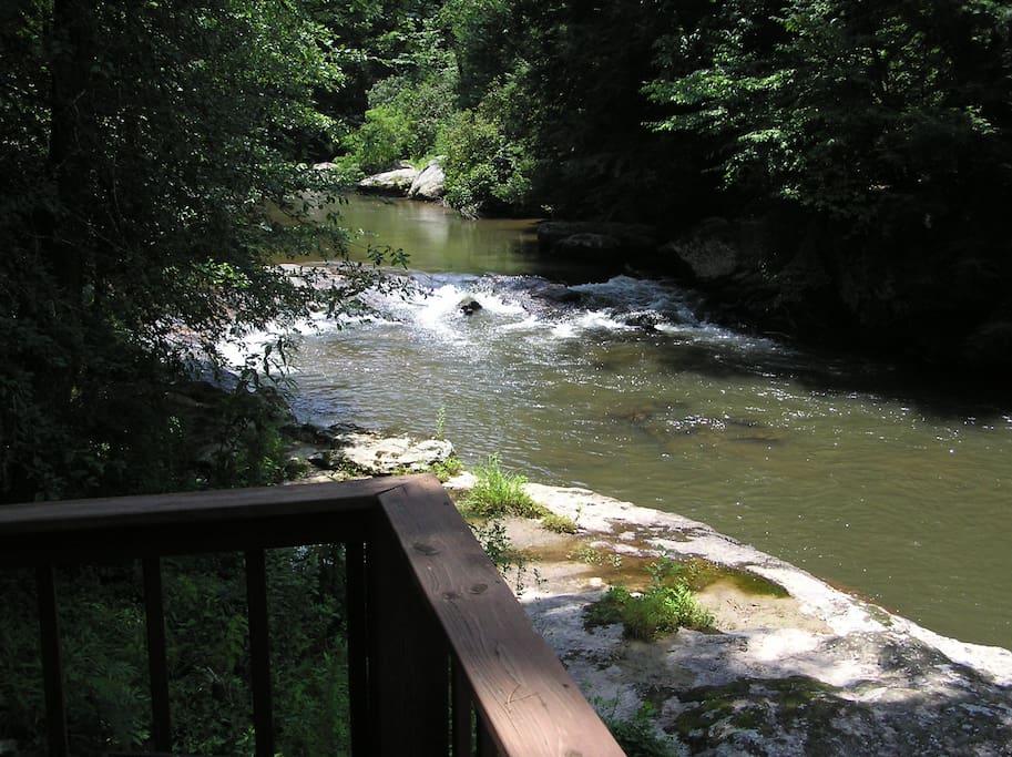 Rapids below the cabin.