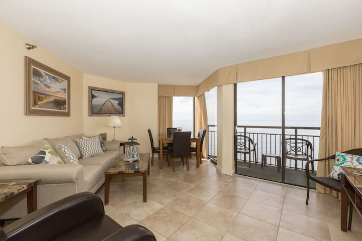 Oceanfront Suite for 6 | Private Balcony + Access to Indoor Pool and Hot Tub