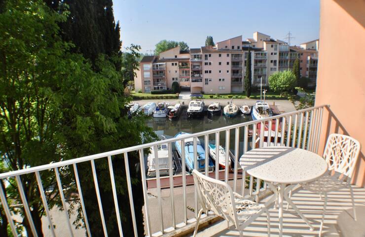 Appartement proche de Toulouse, vue canal du midi
