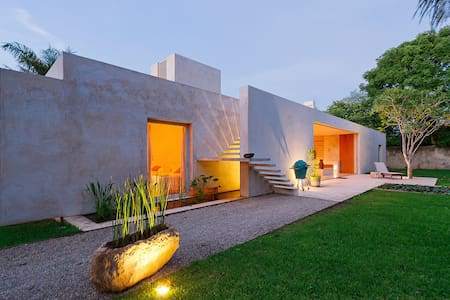 Chic award-winning, private villa outside Merida