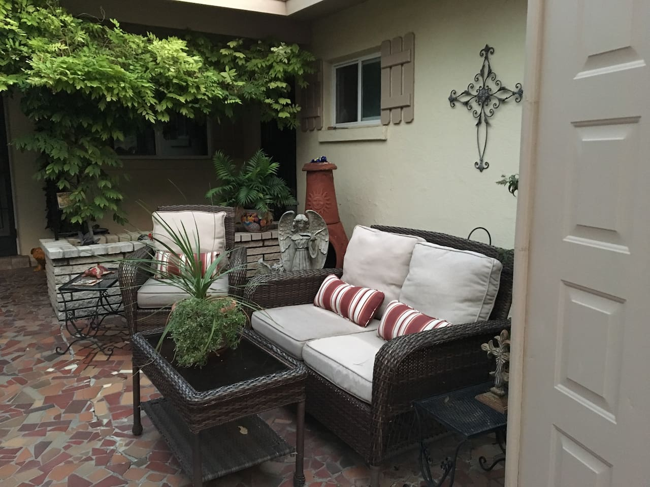 Relax and enjoy your private casita as well as the patio located  right outside your door.
