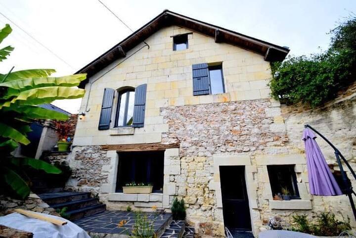 Maison Troglodyte au bord de la loire
