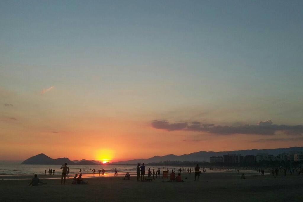 Entardecer praia Riviera