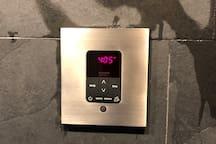 steam room controls.