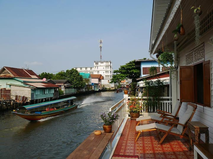 Canal House Bangkok - Whole house on Mon canal.