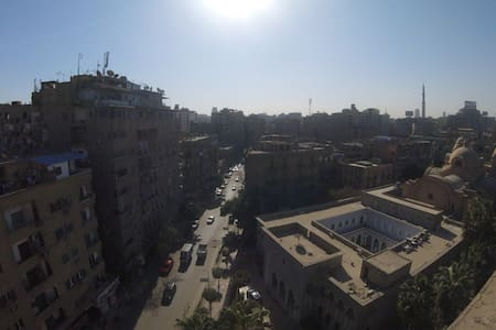 9th floor apt at El-Zaher, Ramsis, with a view.