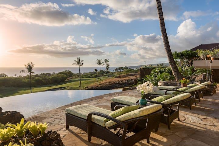Hapuna Westin Resort* Luxury High Bluffs Estate* Ocean and Golf Course Views*