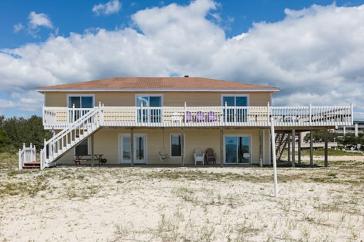 Orange Beach Home with view of the Pass & Gulf. Wrap-Around Deck, Fully Equipped Kitchen & it Sleeps 12!